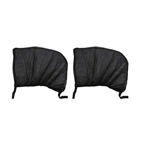 Kinshops 2 Stücke Flexible Auto Seite Heckscheibe Sonnenschutz Mesh Vorhang Auto UV Schutz Mesh Abdeckung Moskito Staub Schutzhülle , schwarz