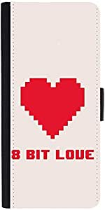 Snoogg 8 Bit Lovedesigner Protective Flip Case Cover For Redmi Note 2