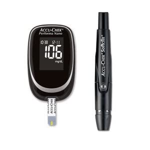 ACCU-CHEK Performa Nano Blood Glucose Meter Monitor The meter measures in mg/dl