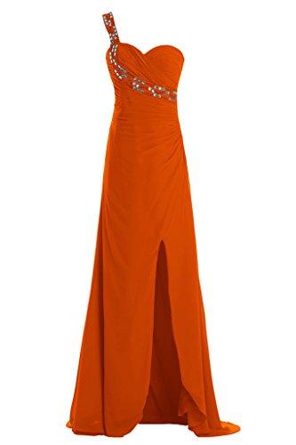 Toscana sposa alla moda kraftool foreverde Chiffon sposa giovane a lungo la sera abito lungo un'ampia Party ball vestimento Arancione