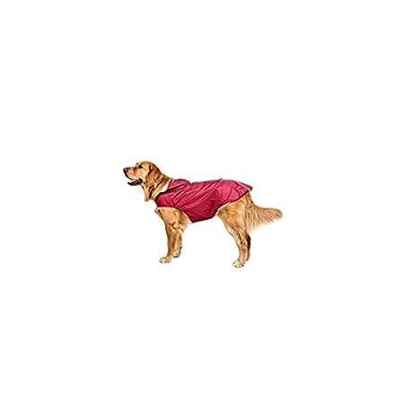 Bwiv Hunde Regenmantel Wasserdicht Hundemantel Groß Gefüttert Ultraleichte Atmungsaktive Hundejacke Reflexstreifen Regenjacke Hunde Mit Kapuze 3XL-6XL