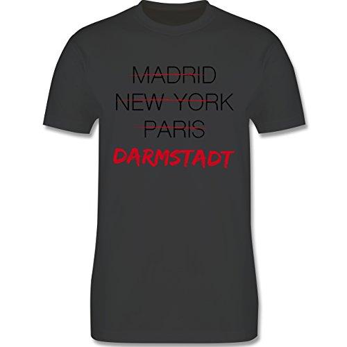 Städte - Weltstadt-Darmstadt - Herren Premium T-Shirt Dunkelgrau