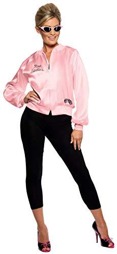 Smiffys Damen Grease Kostüm, Rosa Jacke, Grease, Größe: S, 28385 (Pink Ladies Jacke Grease)