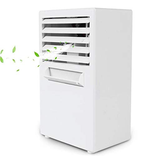 WEIWEITOE Mini Klimaanlage Lüfter Geräuscharm 3 Windgeschwindigkeiten Kühler Digital Cooling System Timing Luftbefeuchter für Home Office, weiß, (Timing-system)