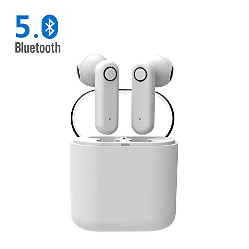 Huyeta Bluetooth Kopfhörer Mini Wireless Earbuds Bluetooth 5.0 Stereo In Ear TWS Ohrteile Ohrhörer Mikrofon mit Ladekiste -