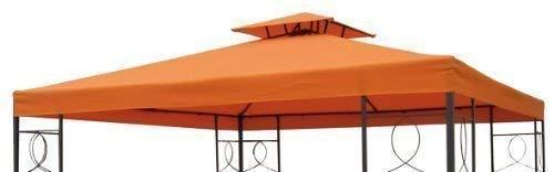 Gravidus WASSERDICHT Pavillondach 2,98x2,98m Dach Pavillon Pavillion WASSERFEST (Orange)