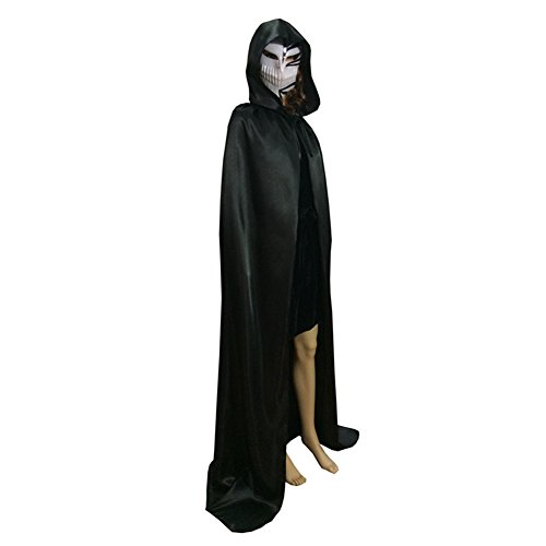 Satin Kostüme Kapuzen (Seasofbeauty Umhang Mit Kapuze Cape Unisex Erwachsenes Halloween-Kostüm)