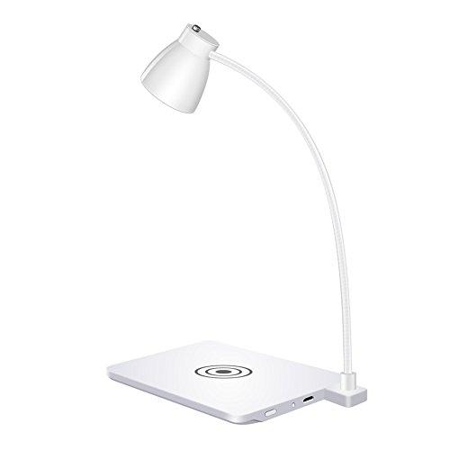 Caricatore senza fili meiziwang mini lampada led lampada da tavolo ricarica senza fili universale,white