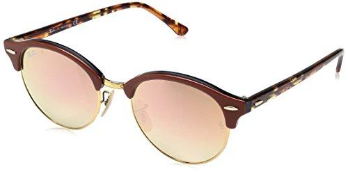 Ray-Ban RAYBAN Unisex-Erwachsene Sonnenbrille 4246 Shiny Gold/Browngradientbrownmirrorpi, 51