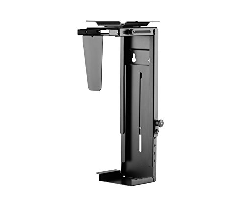 Allcam CPU Holder Under Desk/Computer Wall Mount w/Adjustable Size to accommodate Most ATX Size Cases, 360° Swivel -