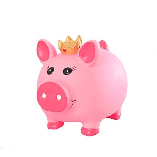 Vosarea Huchas Decorativas del Plástico en Forma de Cerdo con Corona para Niños Regalo para Niños Tamaño L