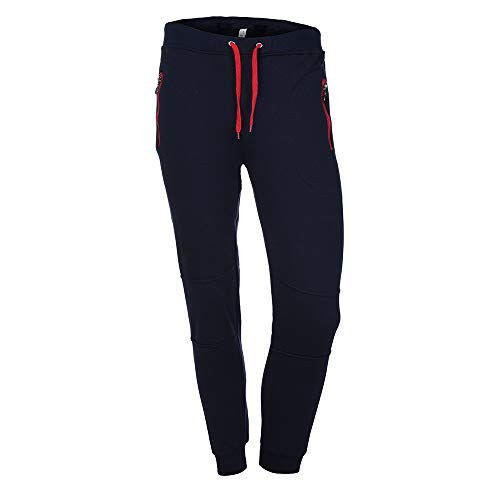 TIFIY Hse Herren Jogginghose Lässige Pocket Sport Sweatpants Hosen Atmungsaktiv Trainingshose Männer Stoffhose (Marine,XXL)