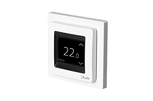 Danfoss 088L0122 ECtemp Touch, Digitaler Thermostat für Elektro-Fußbodenheizung mit Touchscreen-Bedienung -