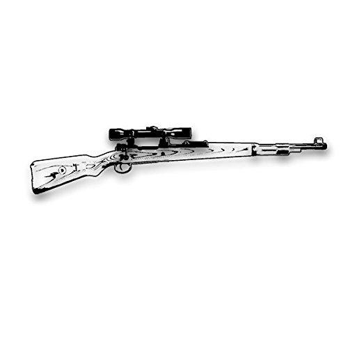 Aufkleber / Sticker -Karabiner 98K mit ZF Wandtattoo Gewehr Deko Tapete Waffe Sportschütze Scharfschütze Sniper Aufkleber 120x28cm #A3559 (Waffe-aufkleber)