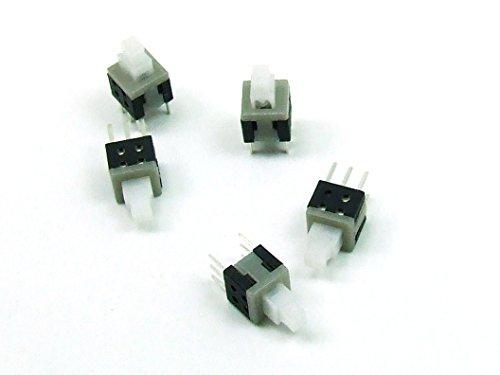 POPESQ® -5 STK. x Mini Schalter/Switch 6x6mm Latching Mikroschalter THT PCB #A283 -