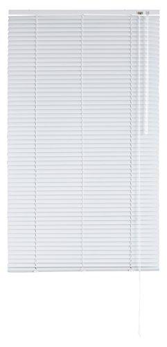 Blindecor 2101 - Veneciana de aluminio con lama de 25 mm, 150 x 250 cm, color blanco