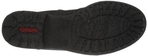 Rieker 74682-01 Damen Halbschaft Cowboystiefel Schwarz (schwarz / 01)