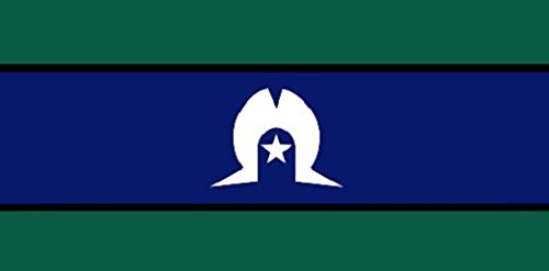 Détroit de Torres Island drapeau 5 Ft X 3 ft Taille - 100% Polyester - Oeillets Métal - Double Couture