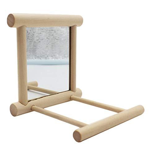 YY272100 Holz Vogel Spaß Spielzeug Vogel Spiegel Small Medium Papagei Käfig Stand Bar Pet Toy -