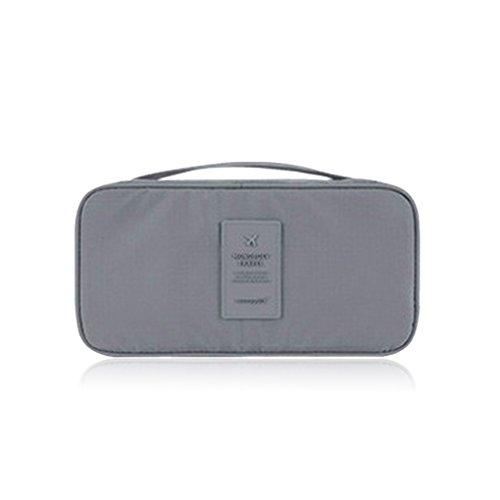 QHGstore Organisator-Beutel-Beutel-Gepäck-Unterwäsche-Wäsche-Handtasche Grau