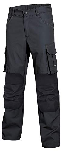 Uvex Perfect Workwear Pantaloni da Lavoro - con Tasche per Ginocchiere in Cordura, Grigio