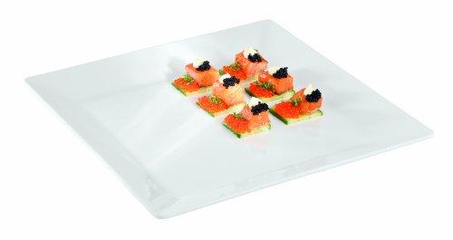 APS à Paderno Monde Cuisine centimètre carré Blanc en mélamine Plateau, blanc, Dimensioni 51x51 cm