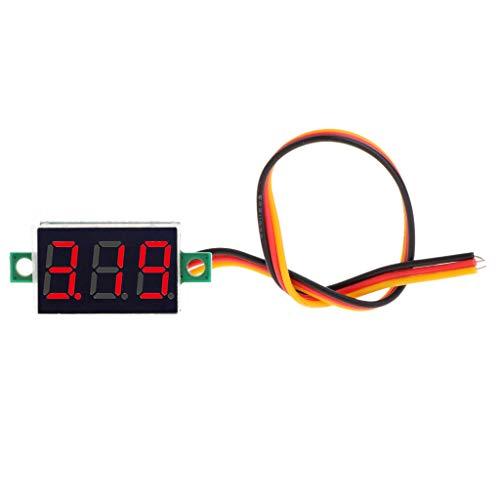 0.36'DC 0-100V Voltmetro Pannello LED Display digitale Tensione Tensione 3 fili Rosso verde blu Volmetro per motocicli Automobili Auto Moto Camion Imbarcazioni Camper Tester