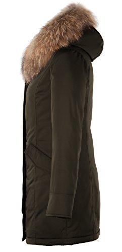 6M166M Damen Daunenmantel Arctic Parka TARORE mit Echtfellkapuze (34, Khaki) - 3