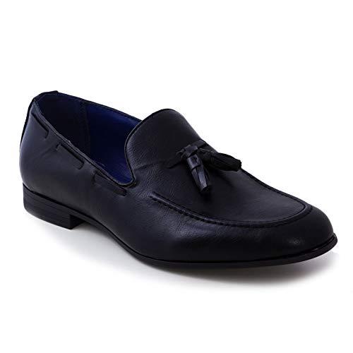 Toocool - scarpe uomo college mocassini bassi eco pelle polacchine eleganti nappe y56 [41,nero]