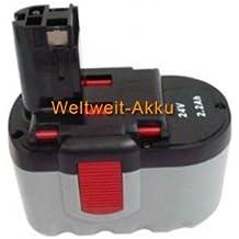 PowerSmart - Batería compatible para Bosch GSR 24 VE-2, GSR 24 VE-2/N, GST 24 V, GST 24 VH, PSB 24VE-2, SAW 24V , 2 607 335 446, 2 607 335 448, 2 607 335 510, 2 607 335 561, 2 607 335 562, BAT031 y BAT240 (24 V, 3000 mAh, NiMH)