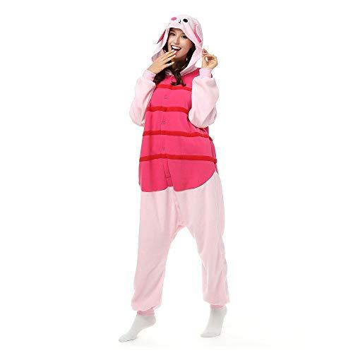 SALICEHB Party Kostüme Halloween Herbst Winter Pyjama Sets Cartoon Nachtwäsche Männer Frauen Pyjama Pig Animal Pyjama