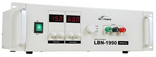 """McPower Netzgerät McPower """"LBN-1990"""" 19"""", 3 regelbare Bereiche 0-15V, 0-30V, 0-60V, 900W, max. 60A"""
