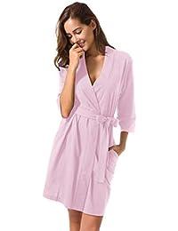 a4c5f5cbe SIORO Mujer Vestido Pijama Vestido Pijama Suaves Ropa Dormir Camisón  Lencería Corto