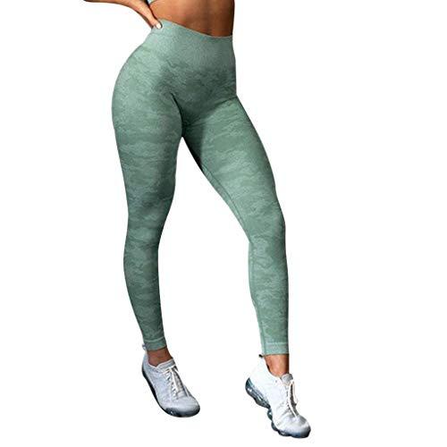 KIMODO® Damen Nahtloser Sportlauf Hohe Elastizität Hose Enge Leggings mit neun Minuten Jogginghose Freizeithose