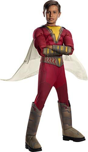 Superheld Kostüm Shazam - Rubie's Offizielles Shazam-Kostüm, DC Comics, Superhelden-Kostüm für Kinder, Film, Deluxe