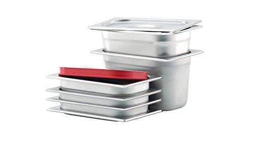 GN Behälter Gastronorm Behälter 1/4 20mm – 200mm Tiefe aus Edelstahl – ungelochte Behälter – oder Deckel