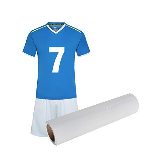 HTV Vinyl-Bündel, 102 x 30,5 cm, 18 Farben, PU-Wärmetransferfolien, Transferfolie, Vinylfolien, zum Aufbügeln, Hitzepresse, DIY-Design für T-Shirts weiß