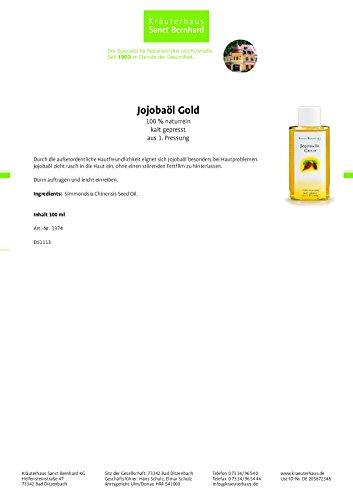 Sanct Bernhard Jojobal Gold Lsf 6 100 Ml 1er Pack 1 X 100 G