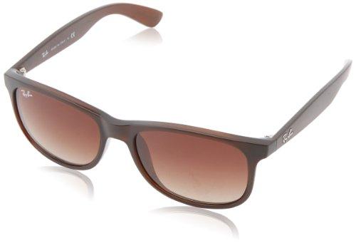 Ray Ban Unisex Sonnenbrille Andy Gestell, Gläser: Braun Verlauf 607313), Large (Herstellergröße: 55)
