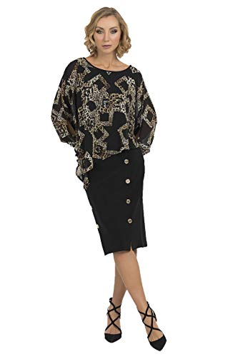 Joseph Ribkoff Black Multi Tunic Style Model 193571