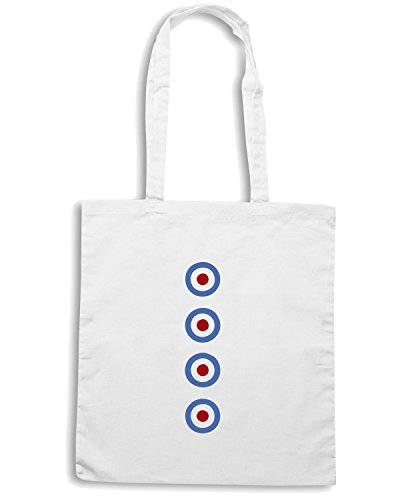 T-Shirtshock - Borsa Shopping OLDENG00179 mod targets Bianco
