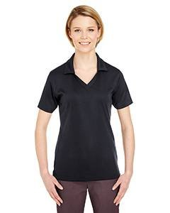 Schwarz Jacquard Polo (Ladies' Platinum Performance Jacquard Polo with TempControl Technology BLACK M)