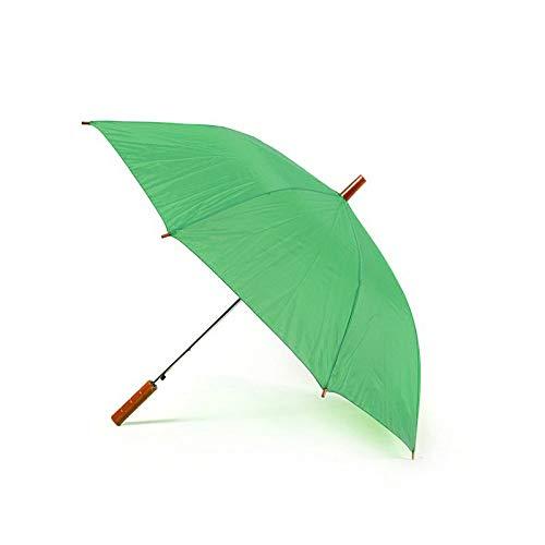 rolly Straight Stick Lightweight Auto Open Umbrellas- 65cm Length, 90cm Canopy Span - Straight Wood-Effect Handle- Mens & Ladies ()