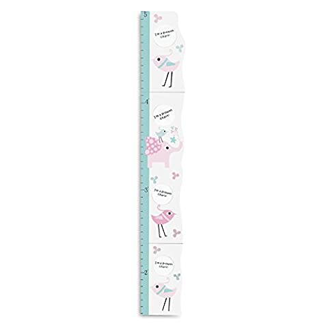 Hoddmimis Home & Living Kids Growth Height Ruler MDF with Picture Frames (Elephant)