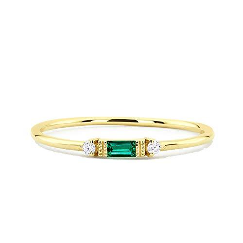 IVERIRMIN Frauen einfache Gold Silber Rose Gold Superfine Ring Verlobungsringe Geschenk