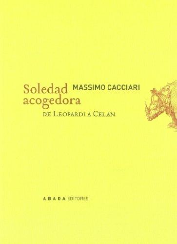 Soledad Acogedora De Leopardi A C (Lecturas de filosofía)