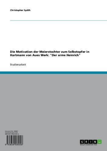 Die Motivation der Meierstochter zum Selbstopfer in Hartmann von Aues Werk: