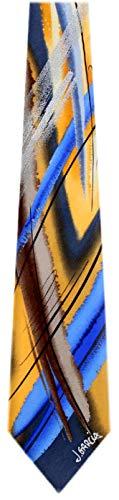 Jerry Garcia JG-7522 Designer Krawatte, Seide, Gelb -
