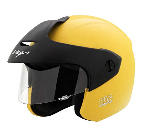 Vega Junior Buds Open Face Helmet (Yellow, XS)