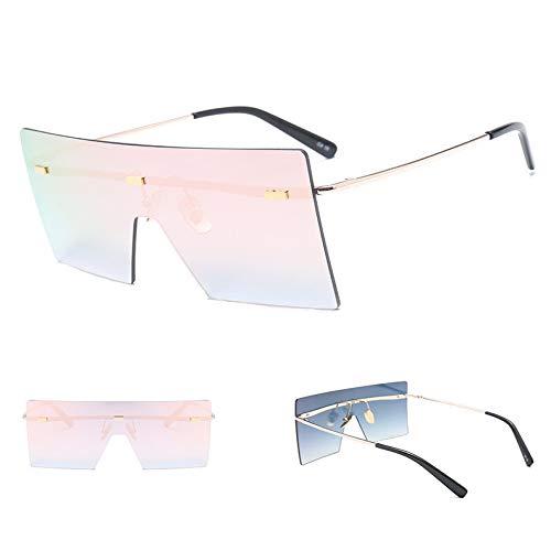 JYTDSA Oversized Brown SunglassesWomen SunglassesRimless Eyewear Big Shades